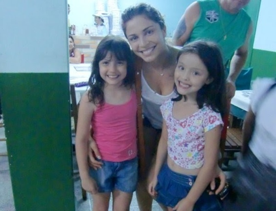 Rafinha e Duda com a ex-BBB Grazi Massafera do Big Brother Brasil 5
