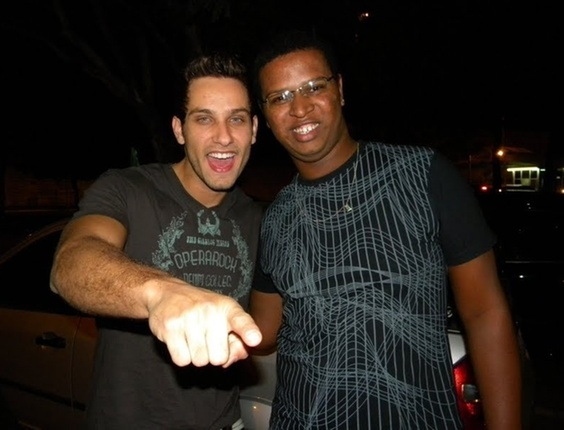 Reinaldo Junior com o ex-BBB Eliéser, do BBB 10