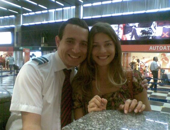 O internauta Lennon Rodrigues enviou uma foto com a ex-BBB Grazi Massafera
