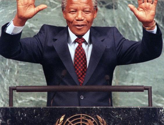 Nelson Mandela. Nações Unidas, 1990