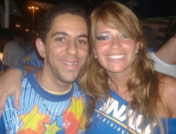 Alan Lira, de Nossa Senhor da Glória, Sergipe, enviou sua foto com a ex-BBB Fani, no camarote do Pré-Caju, em Aracaju