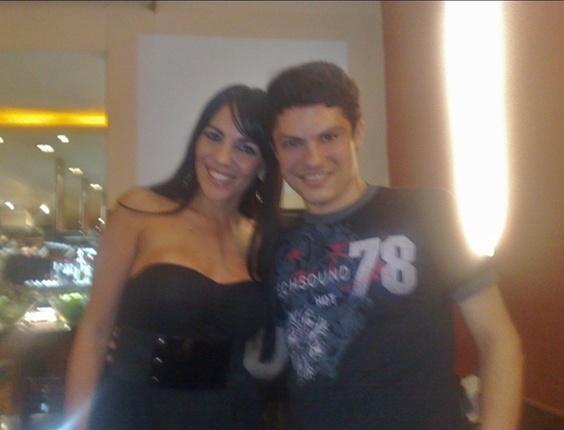 Thiago Menezes com a Anamara do BBB10