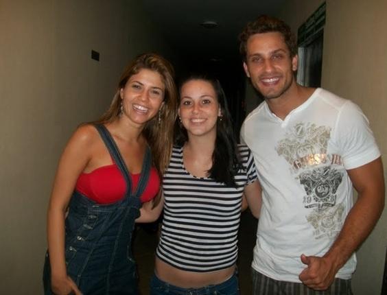 Luana de Lima Souza com os ex-BBBs Cacau e Eliéser, do BBB10